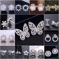 Multiple Styles Women Stud Earring 925 Silver Jewelry Free Shipping A Pair/set