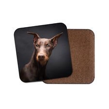 Doberman Pinscher Dog Coaster - Dogs Puppy Dobermann German Guard Gift #15398