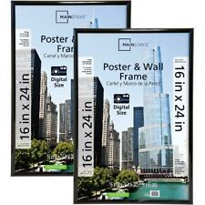 16x24 Trendsetter Poster and Picture Frame Home Decor, Black, Set Of 2