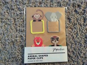 BNIP New Paperchase Pack of 4 Animal Shaped Paperclips