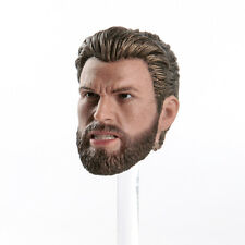 1/6 Head Sculpt Captain America Angry Ver. Avengers Infinity War Male Figure Toy
