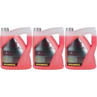 3x 5 Litros Mannol Anticongelante Fresco Tipo G12 + Refrigerante -40°C Rojo