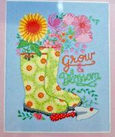"""GROW & BLOSSOM Cross Stitch Kit Artiste NIP #1388941 by Zweigart  8.125"""" X 10.6"""""""