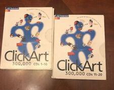 Broderbund ClickArt Software 300,000 Images CD Reference Graphic Art Windows