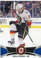 16/17 UPPER DECK AHL #47 EMILE POIRIER STOCKTON HEAT *30968