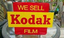 Vintahe old style Kodak Sign Red & Yellow 17.5 x 23.5