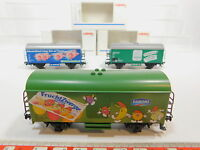 AQ547-1# 3x Märklin H0/AC Güterwagen: 4425 Vivil+44177 Danone+44181, NEUW+OVP