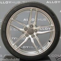 "GENUINE AUDI R8 V8/V10 19""INCH 5 TWIN SPOKE SILVER ALLOY WHEELS AND TYRES X4"
