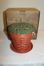 2013 Longaberger Collectors Club Clay Pot Basket Set  - New