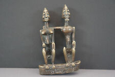 Figurine sculpture couple priomordial en bronze Dogon Art premier africain Mali