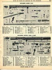 1962 Print Ad of Mossberg Model 351K 346B 346K Rifle Parts List