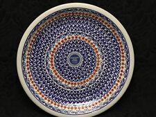 BOLESLAWIEC Polish Pottery PETITE RED FLOWERS Dinner Plate