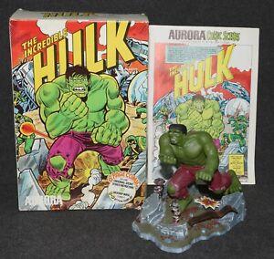 Aurora Model Built Up 1974 Incredible Hulk Comic Scenes +Box +Comic Pro Job