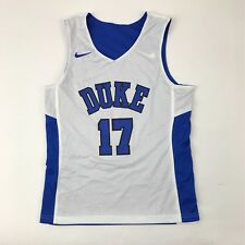 New Nike Boy's M Duke Blue Devils Reversible Basketball Jersey Blue White #17