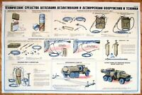 Original Poster USSR Chemical Mass Destruction Decontamination Russia Military