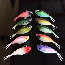 10 Soft Plastic Vibe MASK  Fishing Lures 70mm  Like JACKALL Bass Freshwater Lure