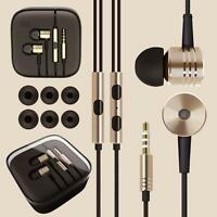 Ear headphones earphones with mic + remote for gym jogging sports mp3 Metal in