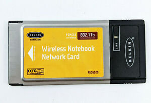 Details About  Belkin 802.11b PCMICA Wireless Notebook Network Card F5d6020