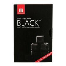 Teroforma Whisky Stones Black Polished Soapstone Beverage Cubes - Set of 9