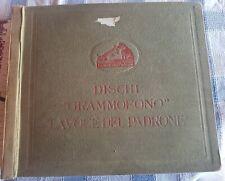 ALBUM VUOTO per dischi 78 giri Grammofono La Voce del Padrone 31 x 26,5 x 4,5 cm