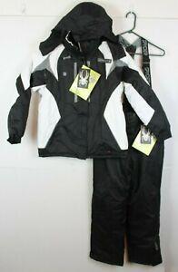 Spyder Entrant Dermizax-EV Youth 2XL XXL Black White 2 pc Snow Suit Jacket Pants