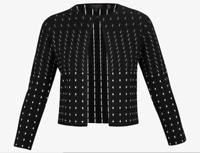NEW Ted Baker Nalila Lurex Sparkle Cardigan in Black - Size 1 US 4 #S4014