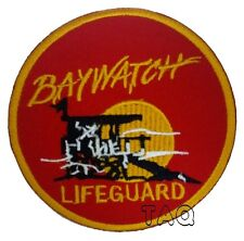 Baywatch Lifeguard Logo Crest Badge Iron or Sew On Fancy Dress Patch 201