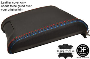 M STITCHING BLACK REAL LEATHER SLIDING ARMREST COVER FITS BMW 5 SERIES E39 96-03
