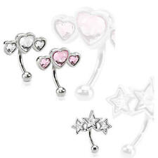 Unbranded Eyebrow Body Piercing Curved Bars
