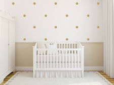 Circle Dots Wall Vinyl Decals - Set of 30, Multiple Sizes, Colors including Gold