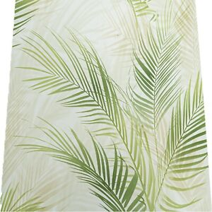 Tall Tropical Leaf Leaves Wallpaper Light Dark Green White Feature Paste Wall