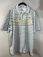 Tommy Bahama Mens Striped Polo Shirt Size L