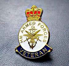 ARMED FORCES ENAMEL PIN BADGE UK VETERAN REMEMBRANCE POPPY DAY 2019