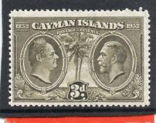 Cayman Islands GV,1932 Assembly 3d olive-green sg 90 H.Mint
