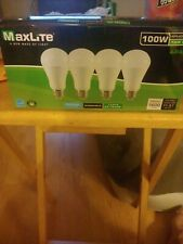 4 Bulbs LED 15W Daylight 5000K A19 100W Replacement by Maxlite Four Pack