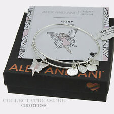 Authentic Alex and Ani Fairy Shiny Silver Expandable Charm Bangle CBD