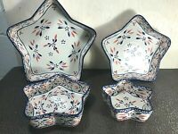 Temp-tations Old World Nesting Star Bowls 4 Piece Set