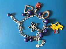 silver chain animal charm cat turtle ladybug bracelet