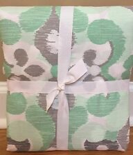 NEW Pottery Barn Teen Geo Garden FULL QUEEN Duvet DARK MINT Gray