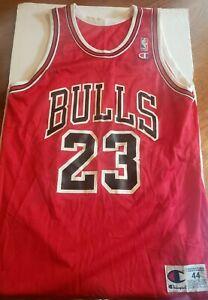 Vintage Michael Jordan 23 Chicago Bulls Champion Jersey Size 44