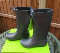 Women's Crocs Wellies Freesail Rain Boot UK 3 Navy Wellington Boots New In Box