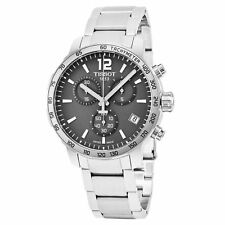 Tissot Quickster Chrono T0954171106700 Grey Dial Steel Mens Swiss Made Watch