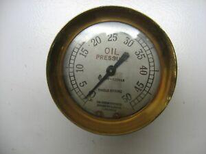 Jas. Morrison Toronto Brass Oil Pressure Gauge Steampunk