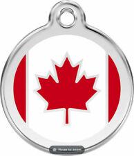 Red Dingo Enamel Dog & Cat ID Tags Canada Flag