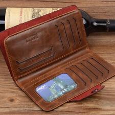 Mens Leather Wallet Long Credit Card Holder Bifold Purse Clutch Pocket NEW
