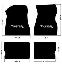 NEW 1970-1976 Black Floor Mats Plymouth Silver Duster Embroidered Logo set of 4