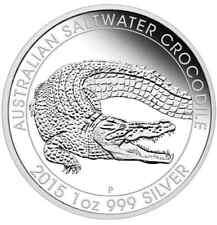 Australian Saltwater Crocodile 2015 1oz Silver Proof Coin Australia