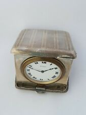 Cigarette case shape silver 8 days watch