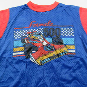 VINTAGE 80s Formula 500 Mesh T Shirt Racing Auto Car Indy USA Made Size 18