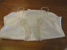 Beautiful vintage Pollinaise satin decorated sz. small camisole - Excellent